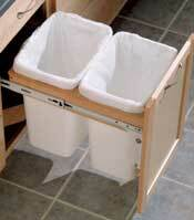 Base Double Wastebasket Top Mount Kit